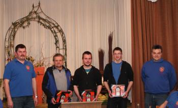 Ralf Schmitt, Matthias Pfluger, Tim Haber, Marek Wolf und Markus Tettschlag (v.l.). Foto: nh