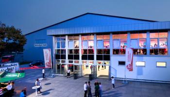 Blick auf die Rothenbach-Halle an einem der Spielabende der MT. Foto: MT Melsungen