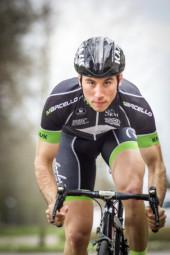 MT-Radsportler Enrico Oglialoro im Trikot seines neuen Teams, dem Racingteam-Rockpalast-Marcello aus Dortmund. Foto: nh
