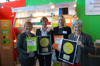 Sabine Kemna (Rechte und Lizenzen Furore Verlag), Christa Brömmel (Hg., CID Fraen an Gender), Astrid Stäber (Lektorat Furore Verlag) und Renate Matthei (Geschäftsführung Furore Verlag) (v.l.). Foto: Milka Backovic