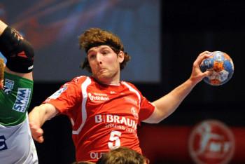 Johannes Sellin spielte 2012 mit den Füchsen Berlin in der Championsleague, als die Hauptstädter eine Elf-Tore-Differenz aufholten und so noch ins Final Four einzogen. Foto: Hartung