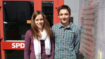 Alina Dippel und Kevin Anacker sind die neuen Sprecher der Schülis. Foto: nh