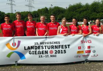 Das Melsunger Mehrkampfteam beim Landesturnfest in Gießen. Foto: Alwin J. Wagner