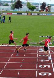 Dennis Horn setzte sich in 11,51 Sekunden vor Alexander Sznyta (Kirchhain, 11,68) und Tilmann Garthe (11,83) souverän durch. Foto: Alwin J. Wagner