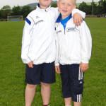 Zwei hoffnungsvolle Nachwuchsathleten -  David und Fabian Sonnak. Foto: Alwin J. Wagner