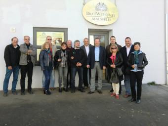 Abschlusstreffen der deutsch-polnischen Partnerschaftsvereine in der BrauWerkstatt Malsfeld mit Bürgermeister Herbert Vaupel. Foto: nh