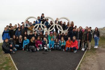 Schüler der DBS Felsberg auf Sprachreise in Bournemouth. Foto: nh