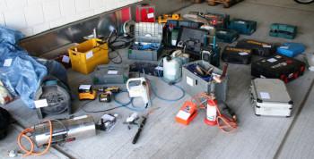 Teile der sichergestellte Beute. Foto: Polizei Homberg/obs