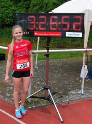 Franziska Ebert  setzte sich in drei von fünf Wettbewerben durch und erzielte ihre beste Leistung über 1000 Meter. Foto: nh