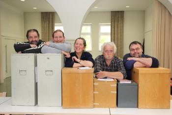 Der Wahlausschuss: Georg Kantas, Carsten Löffler, Assistentin Elisabeth Franz, Günter Ritter und Dieter Muth (v.l.). Foto: nh