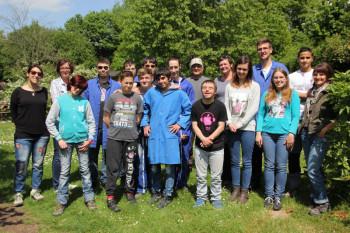 Die Hermann-Schuchard-Schule bekam Besuch von Austauschschülern aus Frankreich. Foto: nh