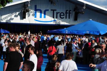 hr mit rund 60 Veranstaltungen auf dem Hessentag in Hofgeismar. Foto: hr/Norbert Klöppel