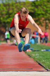Jan Ullrich,  Weitsprungsieger der U20 mit 6,14 m. Foto: nh