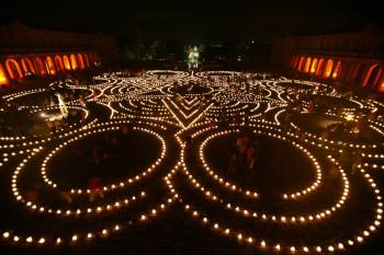 Die große Reise - Begegnungen im Lichterlabyrinth. Foto: Kultursommer Nordhessen