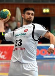 Den anschleßend letzten Angriff des Spiels krönte Kapitän Nenad Vuckovic dann mit dem 29:28-Siegtreffer. Foto: Hartung