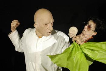 Schauspieler Christiane Weidinger und Klaus Michael Tkacz. Foto: nh