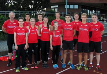 Erfolgreiches Team der Melsunger Leichtathleten in Bebra. Foto: nh