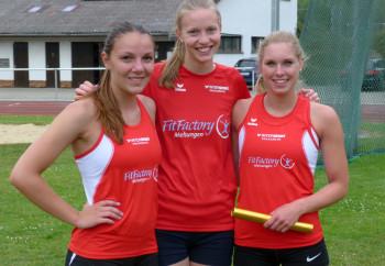 Das siegreiche Frauenteam mit Marie und Kati Wagner sowie Karolin Siebert. Foto: nh