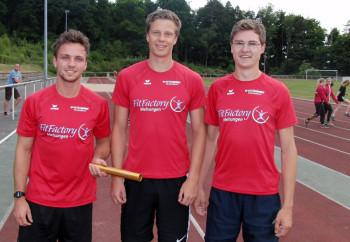 Das Männer-Trio mit Robin Hohmann, Michael Hiob und Tobias Stang. Foto: nh