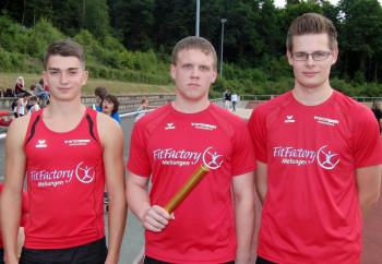 Henri Alter, Mario Nadler und Florian Schareina belegten Rang zwei  über 3x1000 m. Foto: nh
