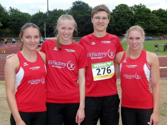 Die vier MT-Teilnehmer bei den Landesmeisterschaften in Darmstadt. Foto: nh