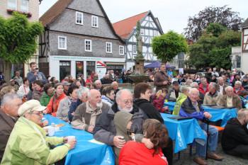 Treeser Johannisfest auf dem Marktplatz. Foto: nh