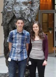 Kevin Anacker und Alina Dippel. Foto: nh