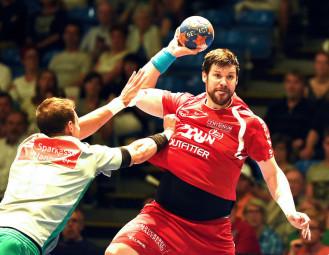 Momir Rnic, mit sechs Toren bester MT-Schütze des Spiels. Foto: Heinz Hartung