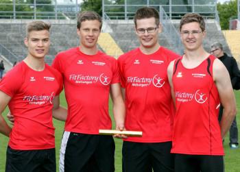Das MT-Staffelquartett mit Dennis Horn, Michael Hiob, Florian Schareina und Tobias Stang. Foto: nh