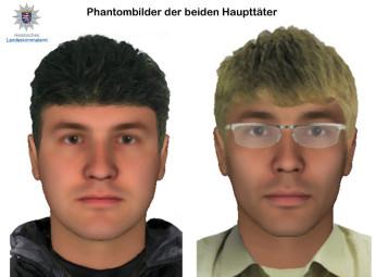 Phantombilder der beiden Täter. Foto: Polizei Homberg/obs