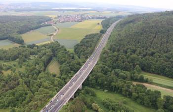 A 49 zwischen Borken und Neuental. Foto: Polizei Homberg/obs