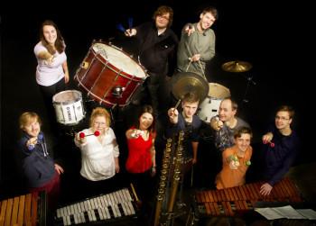Schlagzeugensemble der Universität Kassel. Foto: nh