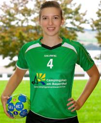 Janina Friedrich, Jahrgang 1998, sie wohnt in Albshausen und spielt für Grün-Weiß in der A-Jugend und dem Juniorteam.  Foto: nh