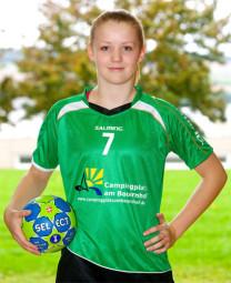 Lea Günther, Jahrgang 1999 und seit ihrem 11. Lebensjahr im Kirchhof-Trikot. Foto: nh