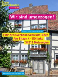 FDP Schwalm-Eder in neuen Räumlichkeiten.