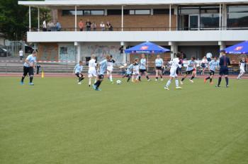Fußballer der Hermann-Schuchard-Schule beim Hessischen Familientag. Foto: nh
