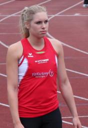 Karolin Siebert - kann sie die 400 Meter am ersten Tag der Landesmeisterschaften unter 60 Sekunden laufen? Foto: nh