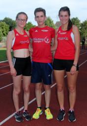 Ein erfolgreiches Trio auf der Langstrecke-  Lynn Olson, Marvin Knaust und Julia Klute. Foto: nh