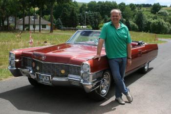 Der Cadillac Fleetwood Eldorado von Michael Kaufholz aus Spangenberg. Foto: HR/Uwe Becker