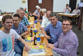 Dr. Stefan Ruppert, Vorsitzender FDP Hessen; Nils Weigand, Vorsitzender FDP Schwalm-Eder; Eduard Husung, FDP Neuental. Foto: Reinhold Hocke