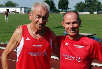 Harry Geier (links) mit seinem Pacemaker Bernd Gabel. Foto: Alwin J. Wagner