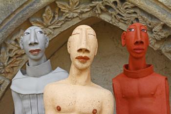 Erde - Holz - Farbe: Ausstellung im Kloster Haydau. Foto: nh