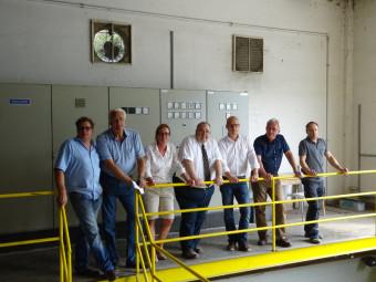 Heiko Martin, Volker Papenhagen, Silke Böttcher, Bernd Siebert MdB, Jan Zillmann, Norbert Scholz und Thomas Kästner (v.l.). Foto: nh