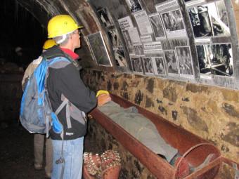 Rettungskapsel in Grube Gustav. Foto: Claudia Krabbes