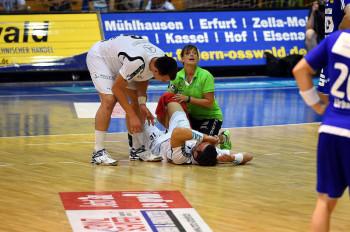 Malte Schröder fällt mit Kreuzbandriss längerfristig aus. Foto: Heinz Hartung
