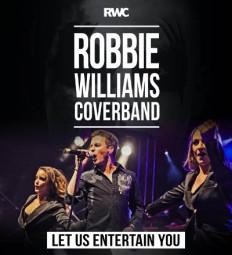 Robbie-Williams-Covershow: Die besten Hits des Entertainers dargeboten in großer Besetzung mit Backgroundsängerinnen und Tänzerinnen. Foto: nh