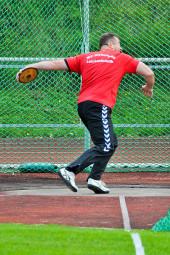 Norbert Weinreich sicherte sich mit 35,28 m den dritten Platz im Diskuswerfen. Foto: Alwin J. Wagner