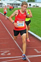 Lorenz Funck beherrschte den 3000m-Lauf der Männer. Foto: Alwin J. Wagner