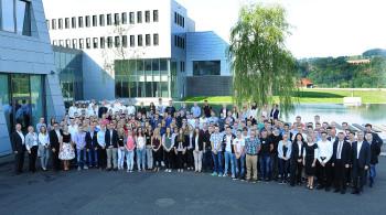 Gruppenfoto von der gestrigen Begrüßungsveranstaltung. Foto: B. Braun Melsungen AG