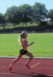 Franziska Ebert lief 43,64 Sekunden auf 300 m. Foto: nh